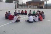 """Curso """"Música, ritmo y expresión corporal"""" Clase práctica en el CEIP Las Alhomas."""