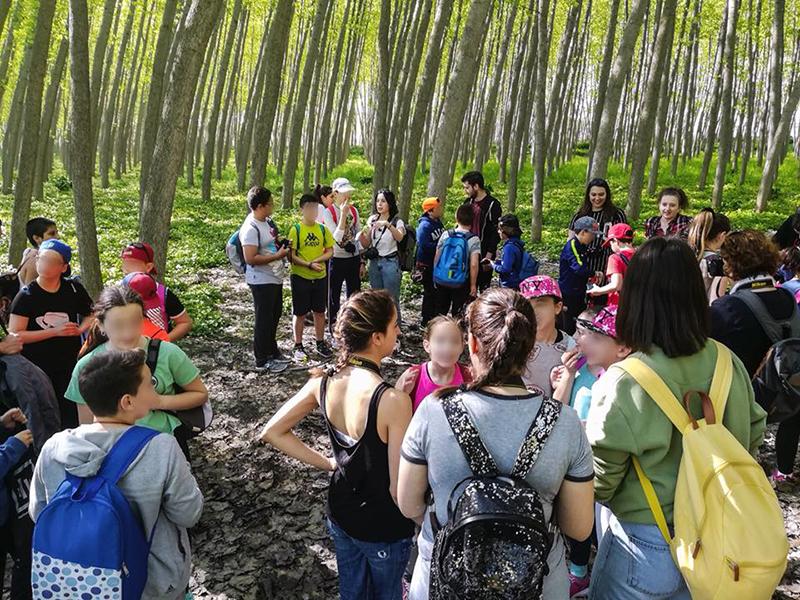 Alumnos de la Escuela de Arte y de 6º del CEIP Clara Campoamor recorren la Vega para hacer fotos :: FACEBOOK EAG